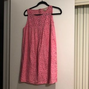 Michael KORS pink eyelet cotton dress all lined 10